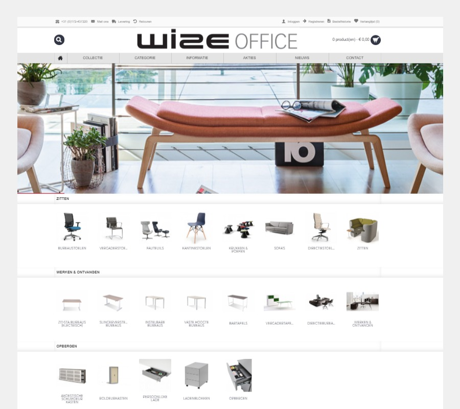 Project Meubilair Wize Office Webshop